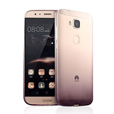 Housse Ultra Fine Transparente Souple Degrade pour Huawei G8 Marron