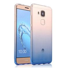 Housse Ultra Fine Transparente Souple Degrade pour Huawei G9 Plus Bleu