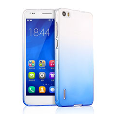 Housse Ultra Fine Transparente Souple Degrade pour Huawei Honor 6 Bleu