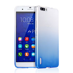 Housse Ultra Fine Transparente Souple Degrade pour Huawei Honor 6 Plus Bleu