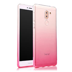 Housse Ultra Fine Transparente Souple Degrade pour Huawei Honor 6X Pro Rose
