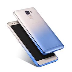 Housse Ultra Fine Transparente Souple Degrade pour Huawei Honor 7 Dual SIM Bleu