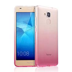Housse Ultra Fine Transparente Souple Degrade pour Huawei Honor 7 Lite Rose