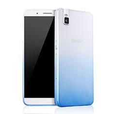 Housse Ultra Fine Transparente Souple Degrade pour Huawei Honor 7i shot X Bleu
