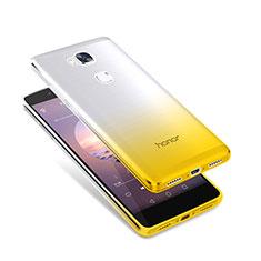 Housse Ultra Fine Transparente Souple Degrade pour Huawei Honor Play 5X Jaune