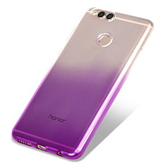 Housse Ultra Fine Transparente Souple Degrade pour Huawei Honor View 10 Violet