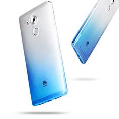 Housse Ultra Fine Transparente Souple Degrade pour Huawei Mate 8 Bleu