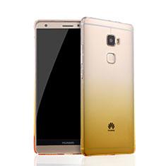 Housse Ultra Fine Transparente Souple Degrade pour Huawei Mate S Jaune