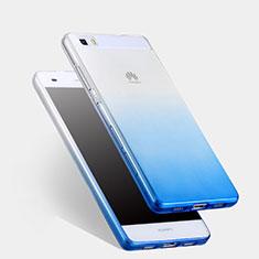 Housse Ultra Fine Transparente Souple Degrade pour Huawei P8 Lite Bleu