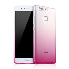 Housse Ultra Fine Transparente Souple Degrade pour Huawei P9 Plus Rose