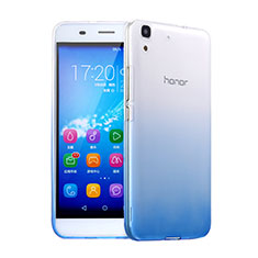 Housse Ultra Fine Transparente Souple Degrade pour Huawei Y6 Bleu