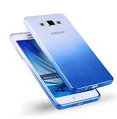 Housse Ultra Fine Transparente Souple Degrade pour Samsung Galaxy A5 Duos SM-500F Bleu