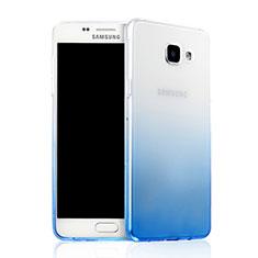 Housse Ultra Fine Transparente Souple Degrade pour Samsung Galaxy A7 (2016) A7100 Bleu