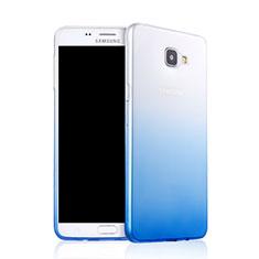 Housse Ultra Fine Transparente Souple Degrade pour Samsung Galaxy A9 Pro (2016) SM-A9100 Bleu