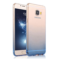 Housse Ultra Fine Transparente Souple Degrade pour Samsung Galaxy C5 SM-C5000 Bleu