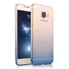 Housse Ultra Fine Transparente Souple Degrade pour Samsung Galaxy C7 SM-C7000 Bleu