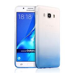 Housse Ultra Fine Transparente Souple Degrade pour Samsung Galaxy J5 Duos (2016) Bleu