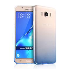 Housse Ultra Fine Transparente Souple Degrade pour Samsung Galaxy J7 (2016) J710F J710FN Bleu