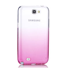 Housse Ultra Fine Transparente Souple Degrade pour Samsung Galaxy Note 2 N7100 N7105 Rose