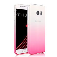 Housse Ultra Fine Transparente Souple Degrade pour Samsung Galaxy S7 G930F G930FD Rose