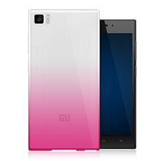 Housse Ultra Fine Transparente Souple Degrade pour Xiaomi Mi 3 Rose
