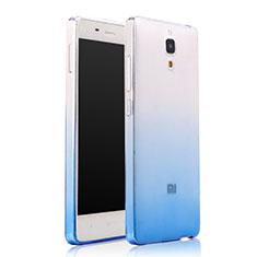 Housse Ultra Fine Transparente Souple Degrade pour Xiaomi Mi 4 Bleu