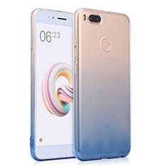 Housse Ultra Fine Transparente Souple Degrade pour Xiaomi Mi A1 Bleu