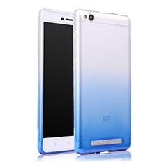 Housse Ultra Fine Transparente Souple Degrade pour Xiaomi Redmi 3 Bleu