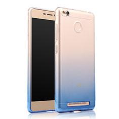 Housse Ultra Fine Transparente Souple Degrade pour Xiaomi Redmi 3 Pro Bleu