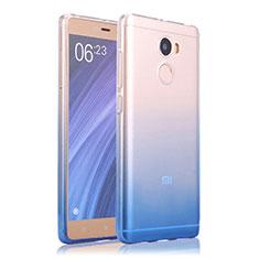 Housse Ultra Fine Transparente Souple Degrade pour Xiaomi Redmi 4 Standard Edition Bleu