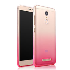 Housse Ultra Fine Transparente Souple Degrade pour Xiaomi Redmi Note 3 Pro Rose