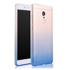 Housse Ultra Fine Transparente Souple Degrade pour Xiaomi Redmi Note 4 Standard Edition Bleu