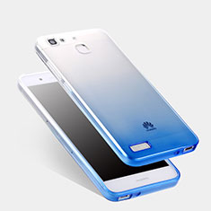Housse Ultra Fine Transparente Souple Degrade Q01 pour Huawei G8 Mini Bleu
