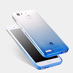 Housse Ultra Fine Transparente Souple Degrade Q01 pour Huawei P8 Lite Smart Bleu