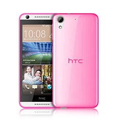 Housse Ultra Slim Silicone Souple Transparente pour HTC Desire 626 Rose