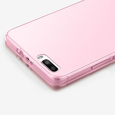 Housse Ultra Slim Silicone Souple Transparente pour Huawei Honor 6 Plus Rose