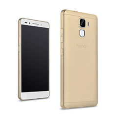 Housse Ultra Slim Silicone Souple Transparente pour Huawei Honor 7 Or