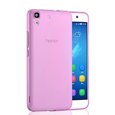 Housse Ultra Slim Silicone Souple Transparente pour Huawei Y6 Rose