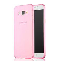 Housse Ultra Slim Silicone Souple Transparente pour Samsung Galaxy A7 Duos SM-A700F A700FD Rose