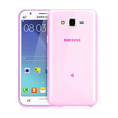 Housse Ultra Slim Silicone Souple Transparente pour Samsung Galaxy J3 Rose