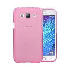 Housse Ultra Slim Silicone Souple Transparente pour Samsung Galaxy J5 SM-J500F Rose