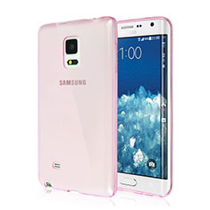 Housse Ultra Slim Silicone Souple Transparente pour Samsung Galaxy Note Edge SM-N915F Rose