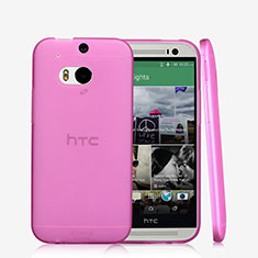 Housse Ultra Slim Silicone Souple Transparente T01 pour HTC One M8 Rose
