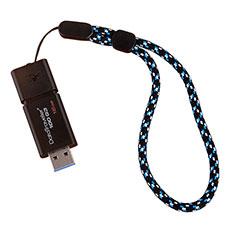 Laniere Bracelet Poignee Strap Universel K04 Bleu