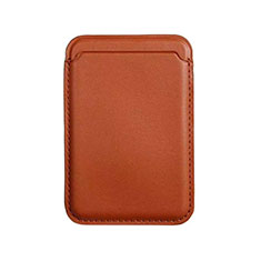 Luxe Cuir Portefeuille avec Mag-Safe Magnetic Magnetique pour Apple iPhone 12 Marron