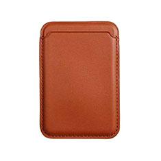 Luxe Cuir Portefeuille avec Mag-Safe Magnetic Magnetique pour Apple iPhone 12 Mini Marron
