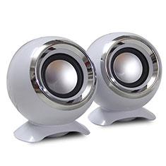 Mini Haut-Parleur Enceinte Portable Haut Parleur pour Nokia 3.1 Plus Blanc
