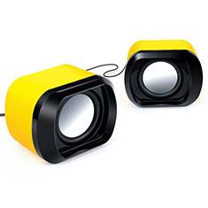 Mini Haut-Parleur Enceinte Portable Haut Parleur pour Nokia 3.1 Plus Jaune