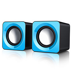 Mini Haut-Parleur Enceinte Portable Haut Parleur W04 pour Apple iPad Mini 5 2019 Bleu