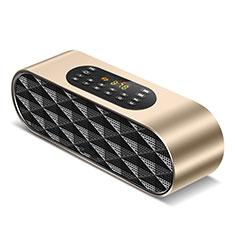 Mini Haut Parleur Enceinte Portable Sans Fil Bluetooth Haut-Parleur K03 pour Apple iPad Mini 5 2019 Or